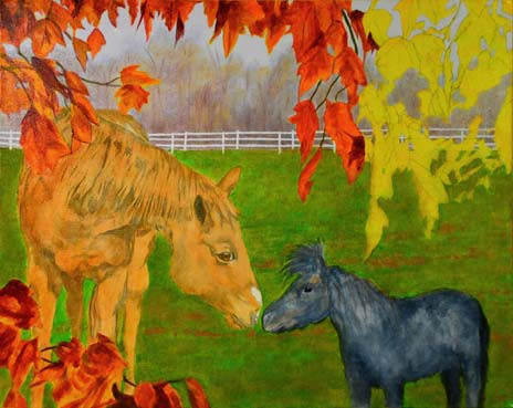 more leaves, and two coats on the horses