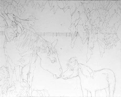 Here's the pencil version for Reins of Life
