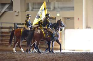Mounted sheriff patrol. They stuck around on foot for the entire event.