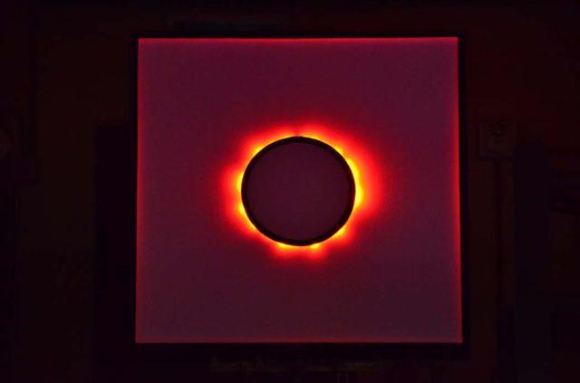 Looks amazingly like the sun's corona--it's an animated neon circle tube.