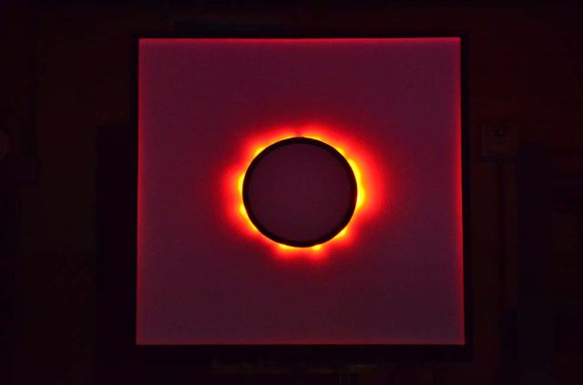Looks amazingly like the sun's corona--it's an animated neon circle tube.