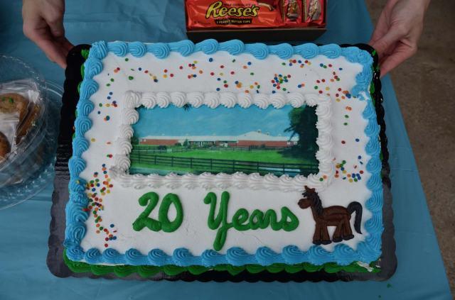 The anniversary cake!