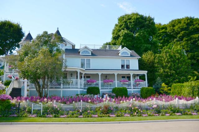 The island is overloaded with flowers in summer.