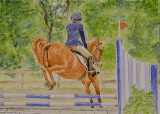 """Landing"", from a photo shot last year at the Fox River Valley Pony Club horse trials."