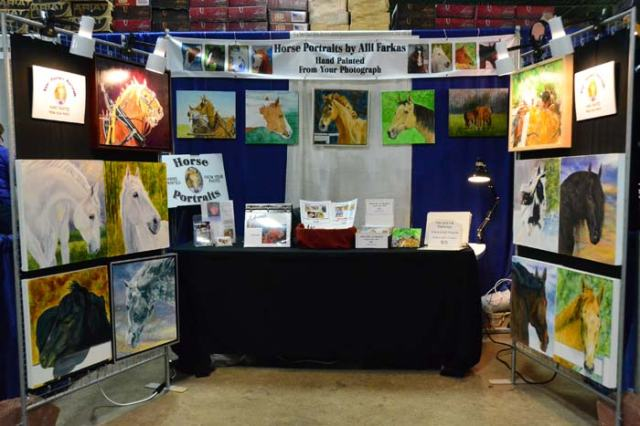 Here's the booth. The Friesian is on the right, middle row.
