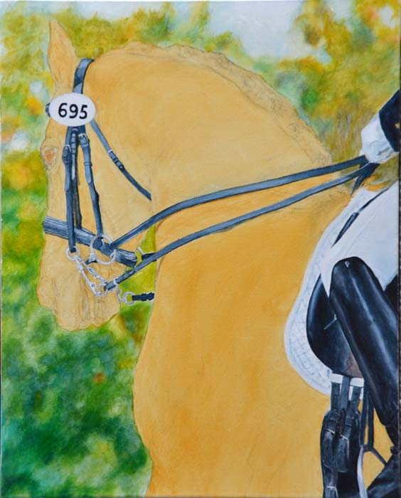 Background, rider and saddle, and bridle are done on Cantana's portrait.