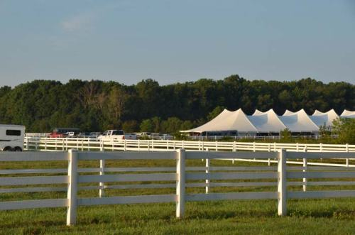 Maybe this tent of portable stalls migrated 40 miles west from Richland Park?