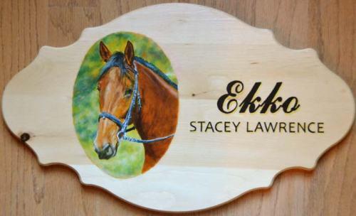 """""""Ekko"""", oil and acrylic on pine board"""