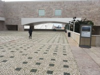Entrance to the cultural center in Belem which houses theaters, performance halls, and the Berardo Museum Collection.