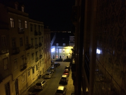 We arrived after dark at our wonderful 2-bedroom Air BnB apartment in the Graca district of Lisbon