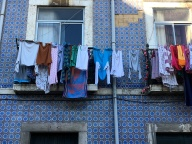 Laundry day in Lisbon.