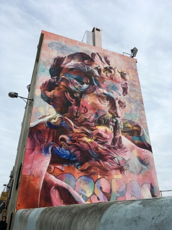 Lots of murals all around town. This one was pretty spectacular, several stories tall.