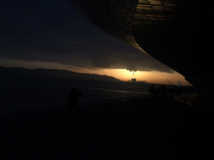 Crazy sunset happening when we finished our visit at MAAT
