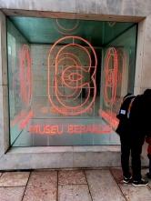 Neon sign in front of the Berardo Museum