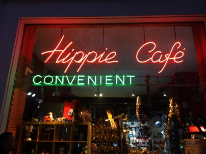 """Storefront in Lisbon. If you look at """"CONVENIENT"""" closely you can see how squared off the letters are here, too."""