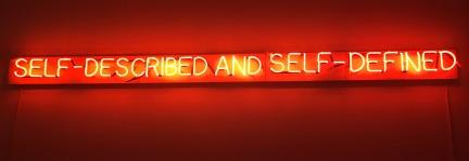 Joseph Kosuth neon (bent correctly, i.e. the American way thank you!) at the Berardo.