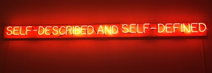 Joseph Kosuth neon (bent correctly, i.e. the American way thank you!) at the Berardo.
