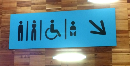 They've got everybody's bathroom needs covered in these standardized European Union signs.