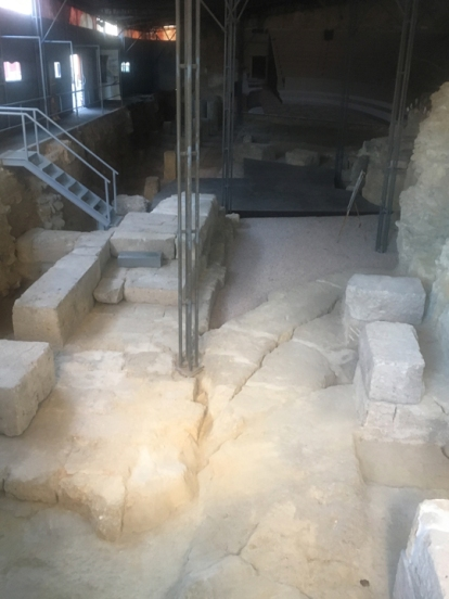 Part of the recovery work being done at the Lisbon Museum's project, a Roman theater built in the early 1st century AD and discovered in 1798 when Lisbon was rebuilt after the huge 1755 earthquake.