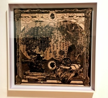 Woodcut at the Berardo. This one by Sun Xun, Chinese. Next photo is a closeup.