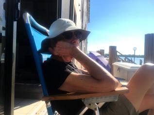 "Suntan Greg on the ""back porch"""